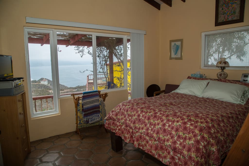 View of Ocean Side Bedroom and your view of Escondido Bay