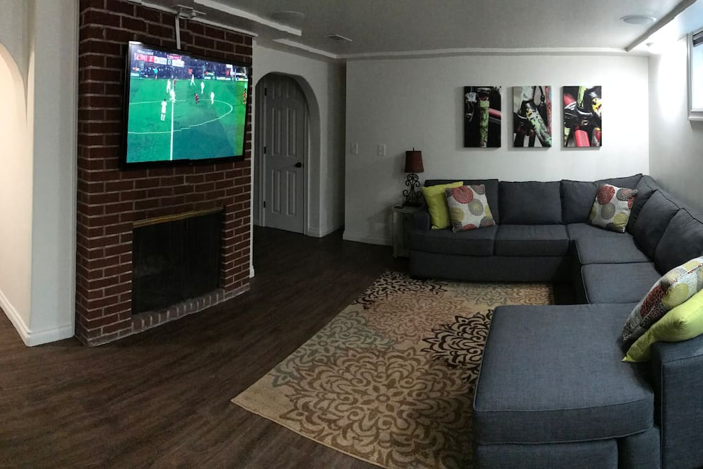 Large TV with Surround Sound