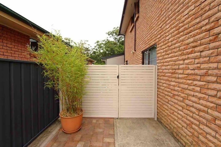 Guest entrance through side gate!