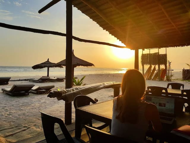 sur une plage tropicale venez séjourné au soleil