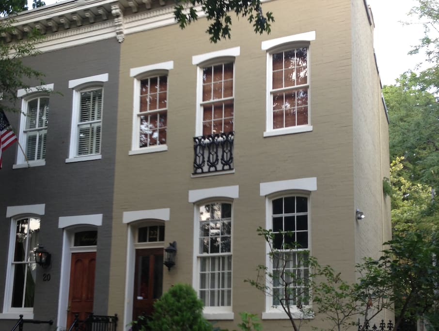 Historic rowhouse registered with L'Enfant Trust