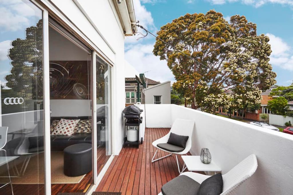 Spacious deck with views and BBQ