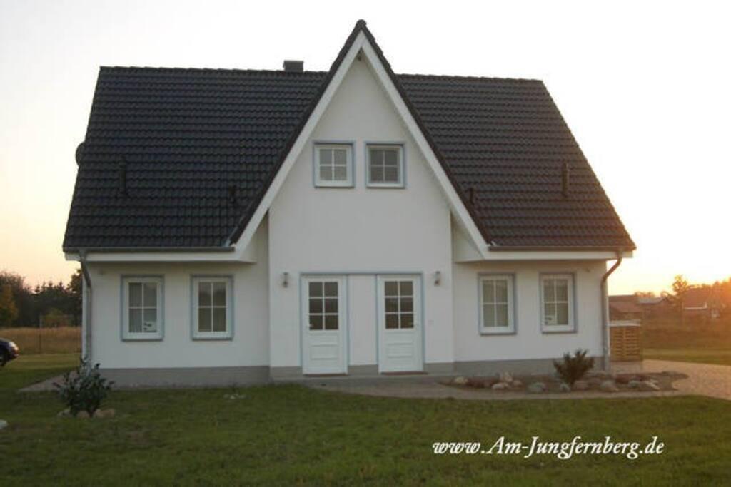 Ferienhaus am Jungfernberg Eingang in Rankwitz Lieper Winkel auf Usedom beim Peenestrom