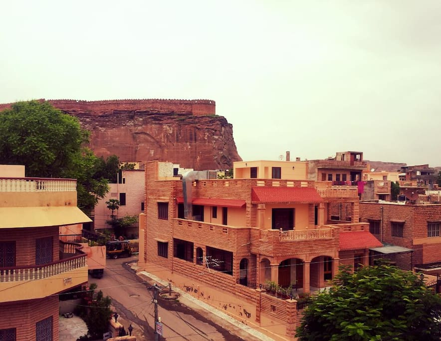 View of Jodhpur Parkota Wall from CrashPad terrace. Wouldn't that be a great sight while enjoying coffee!