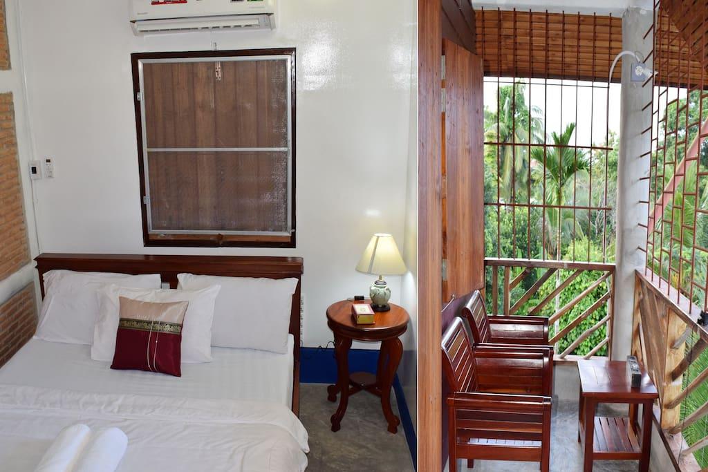 Balcony room and the balcony facing north