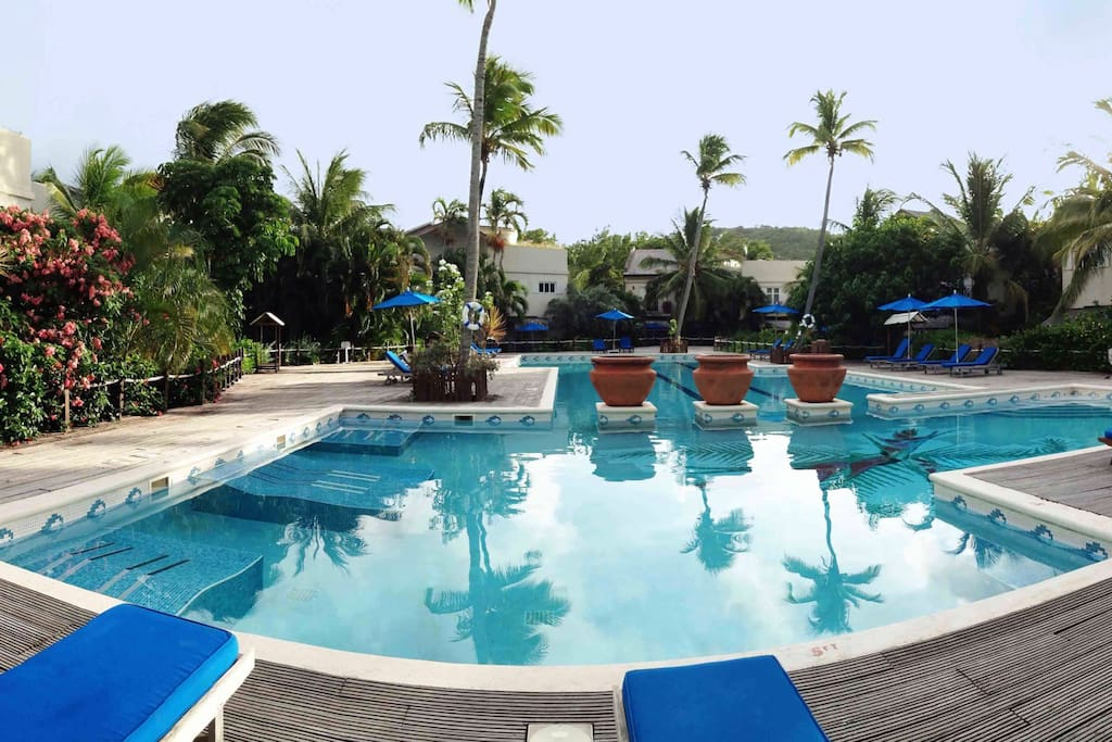 ...Or Cotton Bay Village's very large Pool, just outside your Terrace