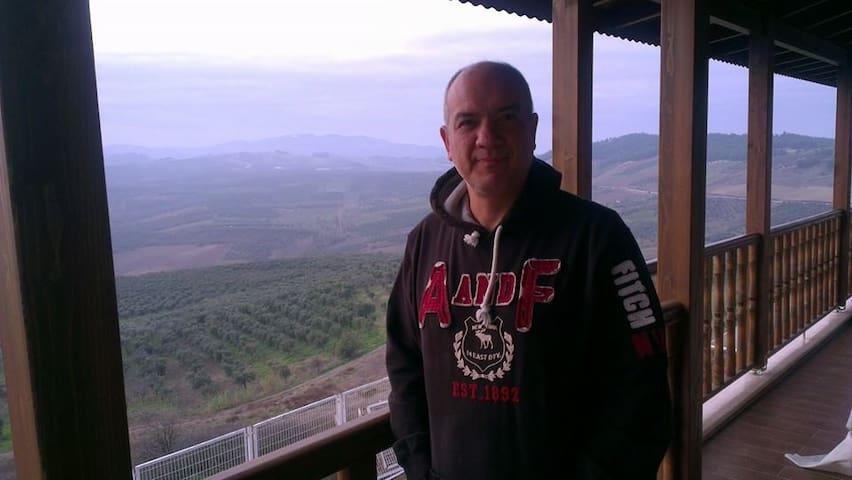 Dağ,deniz ve nefis doğa manzarası - Mürsel