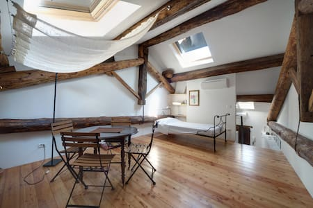CHARMING STUDIO under the roofs - Piacenza - Loft-asunto