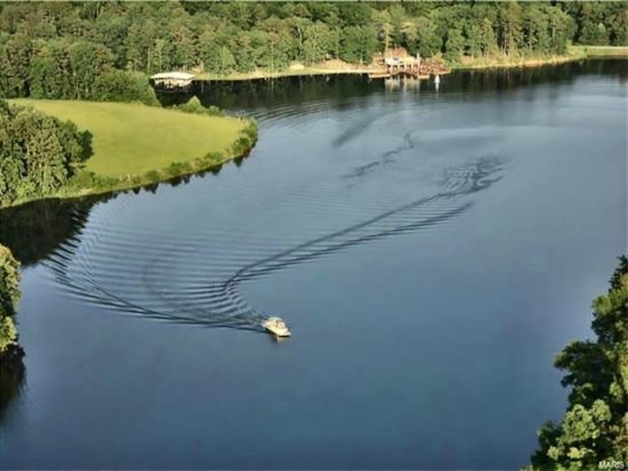 55+ acre private spring fed lake. Fishing and swimming heaven!