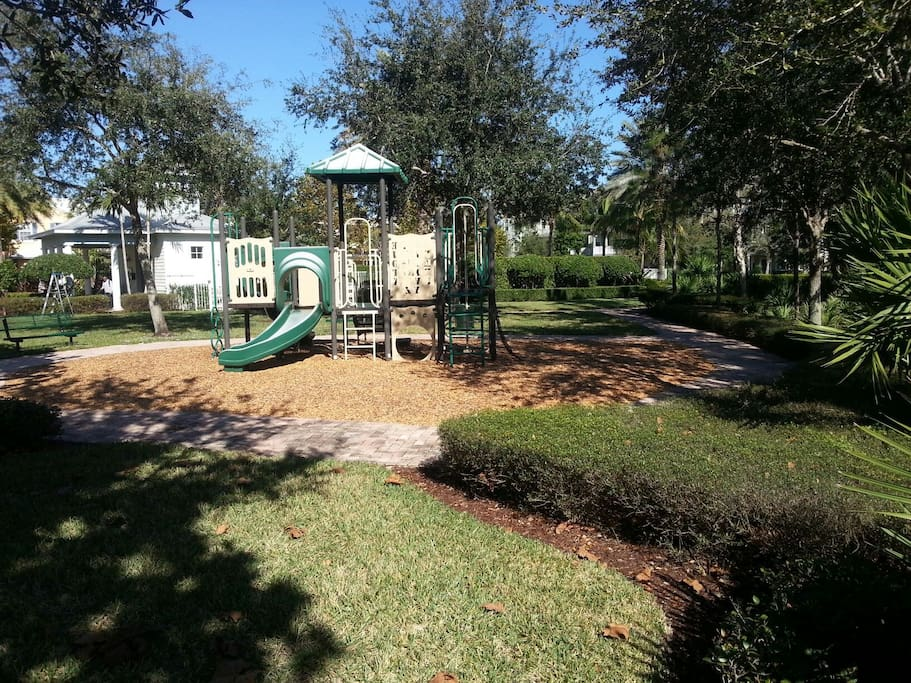 Park in view of front door for safe children play