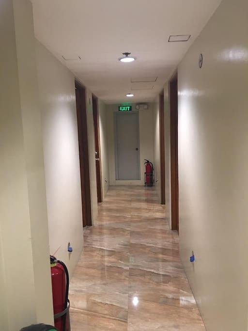 Hallway of the building