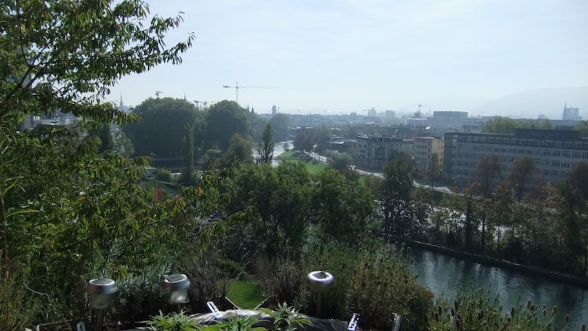 Beautiful Panorama view of Zurich