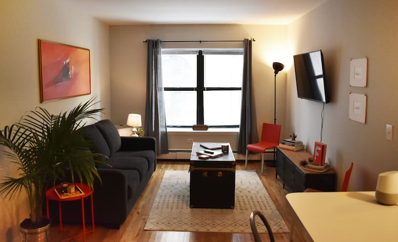 Stylish Industrial Theater District Apartment
