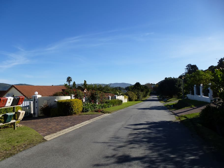 The house is located on a picturesque road