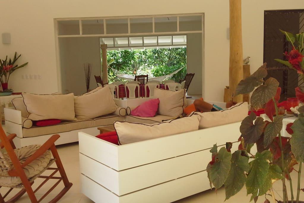 Salon terrasse  - Espace à disposition des hôtes