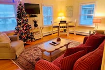 Christmas cozy nesting at the heart of downtown Saugatuck.