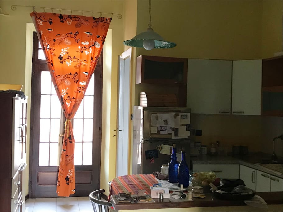 Kitchen in a full sunny day