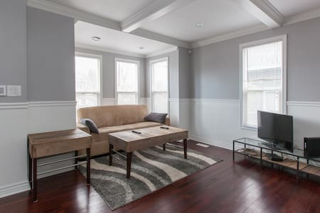 """This is a 3 queen sized bed 3 bath Registered Historic Home. The living room also has a double size futon couch. One 43"""" television in the living room and one 40"""" television in the master bedroom. A nice deck in the backyard for outside entertaining."""