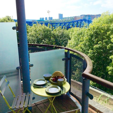 Ensuite,close to city,parking,view,quiet - Gateshead - Appartement