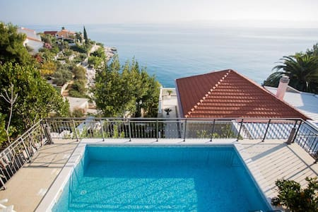 Amazing villa with spectacular seaview & pool - Okrug Gornji - Villa