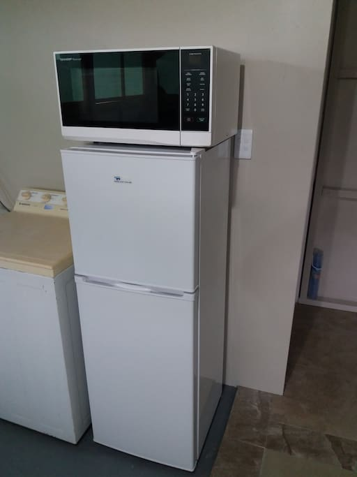 Fridge and Microwave (separate from bedroom)