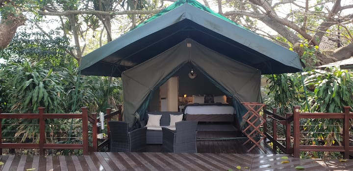 Luxury en-suite tent in town