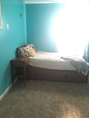 Guest room twin and trundle bed