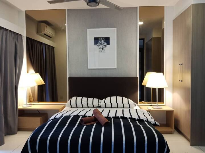 【HG Homestay T6】Mid Valley(5minDrive)Wifi Gym Pool