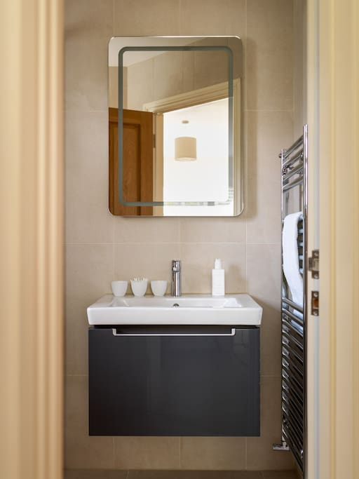 The en-suite, with power shower