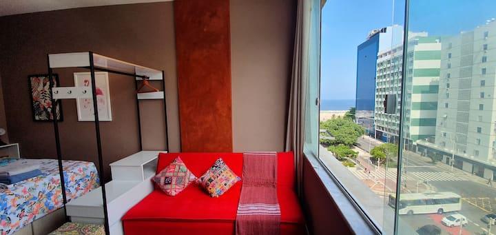 Loft Rena Copacabana Luxo vista mar deslumbrante