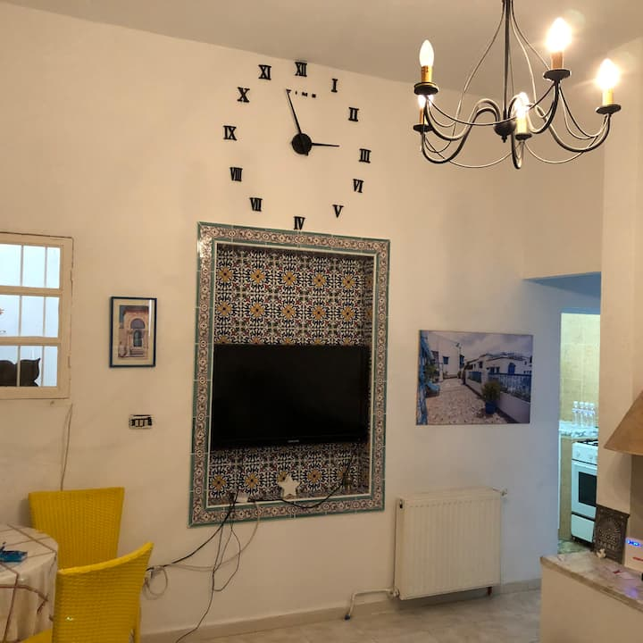 Large 1 bedroom apt at the heart of Sidi Bou Said
