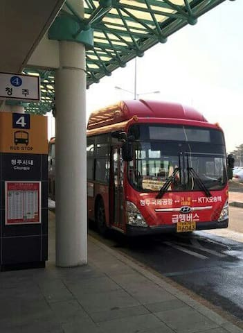 40 minutes by city bus from Cheongju Airport ☞Take bus number 747 ☞Get off at Cheongju Bus Terminal