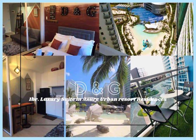 D&G 1Br. Suite Azure Resort w/ fast wifi & Netflix