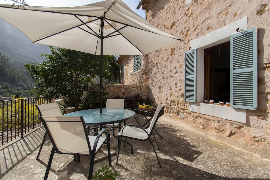 Enjoy al fresco dining on your private terrace.