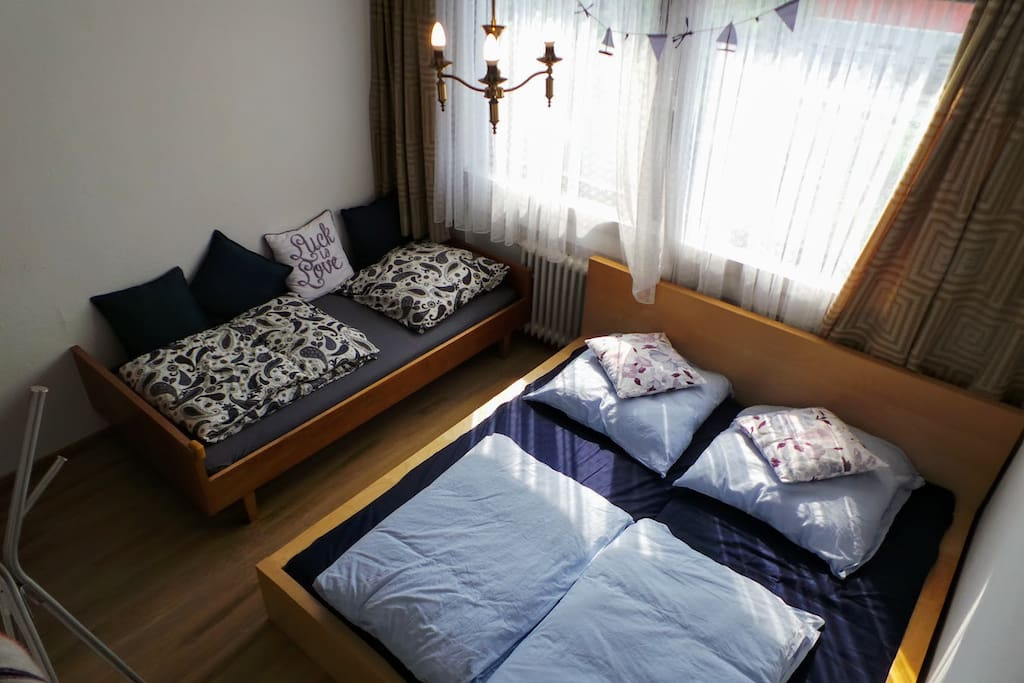 Guest Room on 1st floor for 3 persons (180*200 for Two, 100*200 for One)