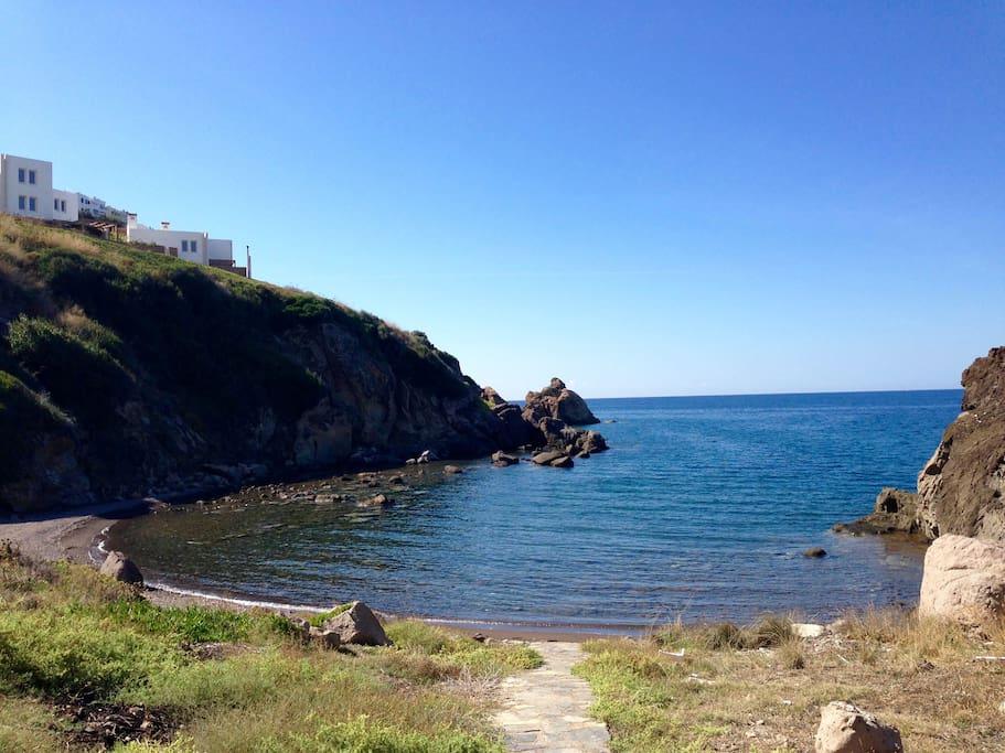 A semi-private beach - 7 min. by walking distance!