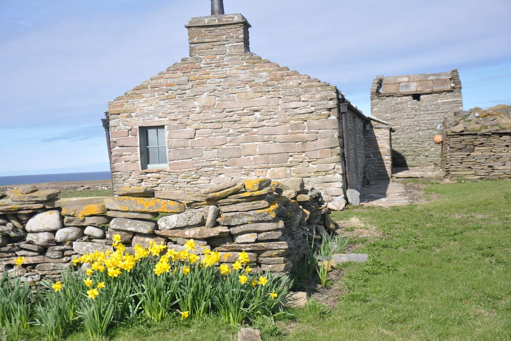 Verracott is said to be the oldest croft on the island and has a traditional flag roof and kiln.