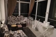 Balcony transformed into a wintergarden
