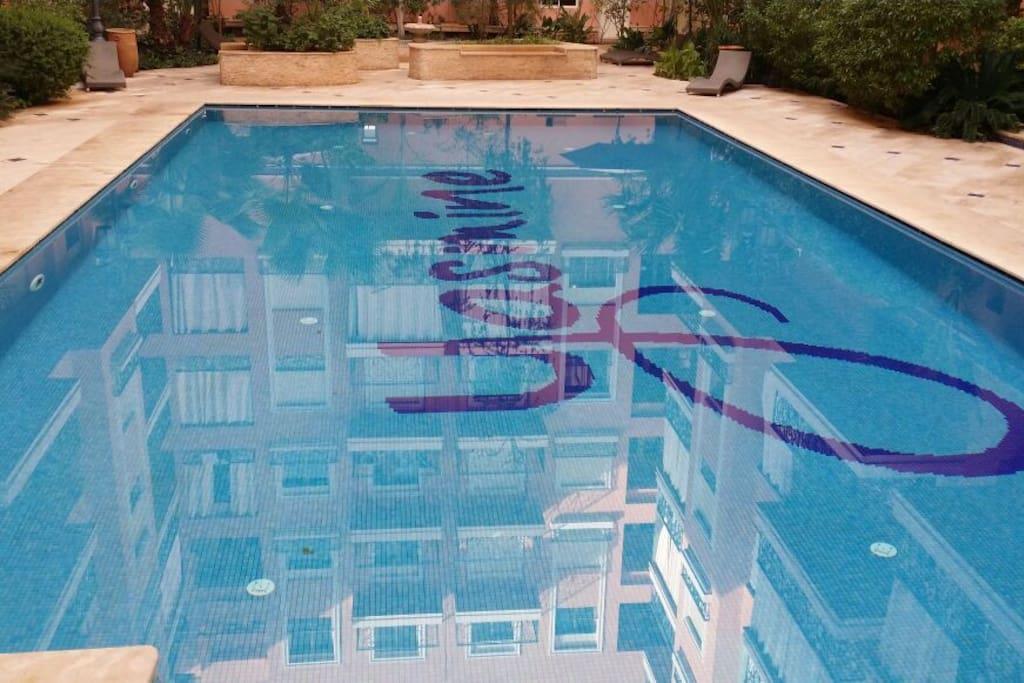 Appartement avec piscine apartments for rent in marrakech for Appartement avec piscine marrakech