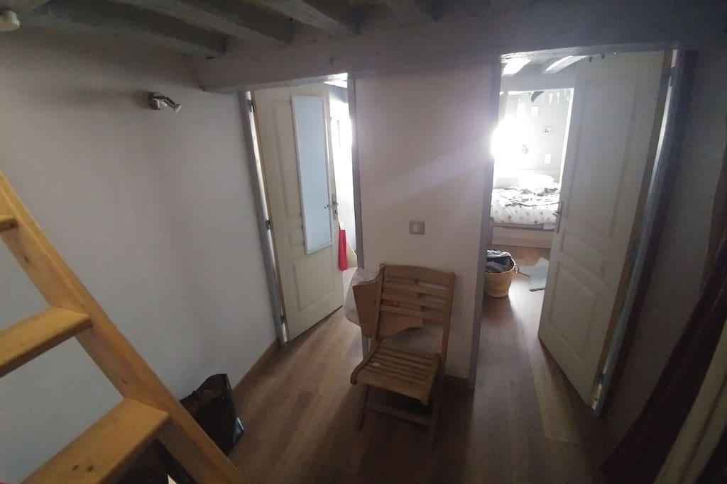 Appartement duplex -Grande pièce de vie -Deux chambres cabines