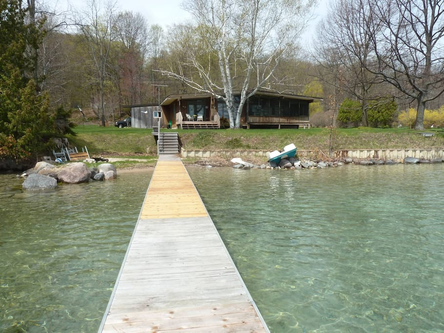 We have a great dock for swimming and jumping onto boats.