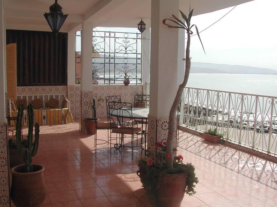 Terrace bord de mer Taghazout
