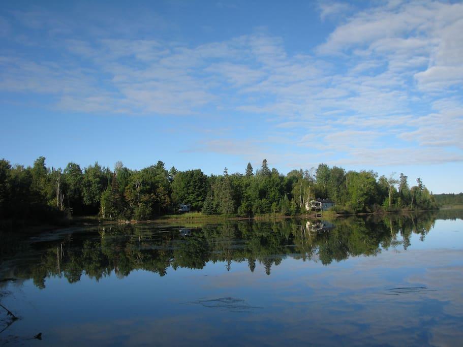 Eagle Lake across the road