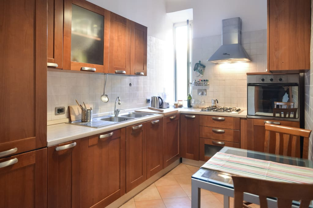 a well equipped kitchen for your italian meals