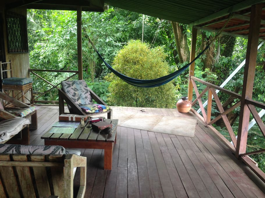 Front deck of the teak house