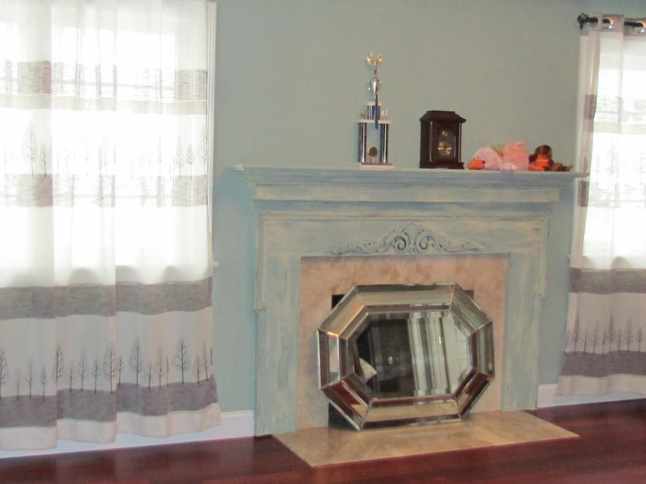 Master bedroom has its own fireplace