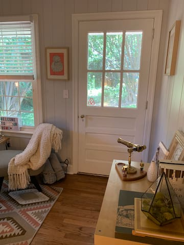Your own private entrance with screen door and porch.