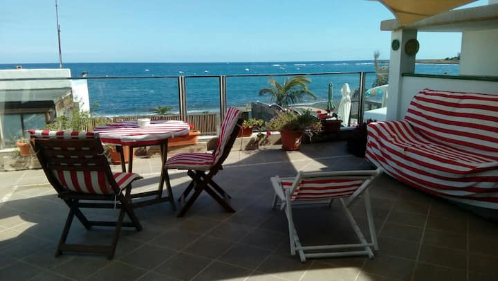 Apartamento con encanto en la playa frente al mar