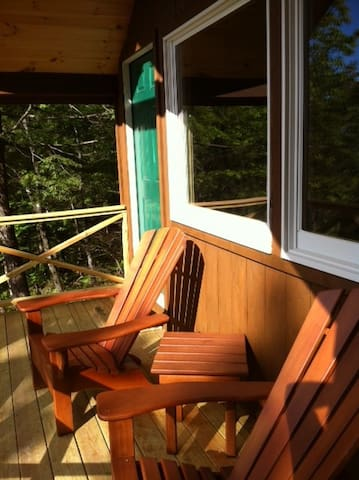 The sun kissed porch gets the very last of the evening sun.