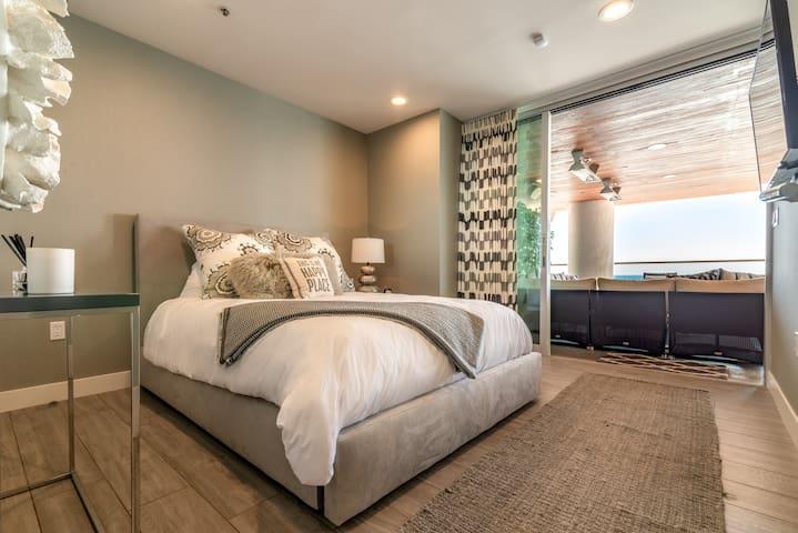 Bedroom #3 | Beach Level | 2 floors below Main Level/Street Level